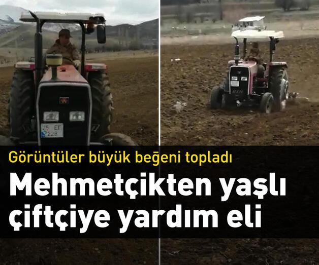 Son dakika: Mehmetçikten yaşlı çiftçiye yardım eli