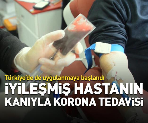 Son dakika: İyileşmiş hastanın kanıyla korona tedavisi