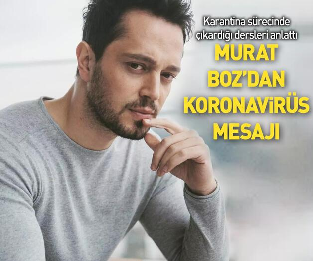 Son dakika: Murat Boz'dan koronavirüs mesajı