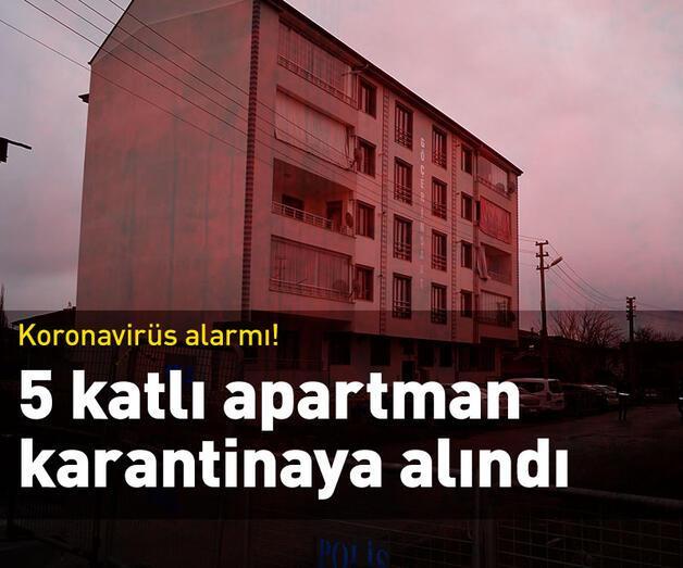 Son dakika: 5 katlı apartman karantinaya alındı
