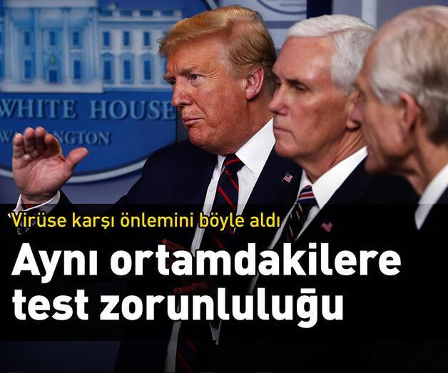 Son dakika: Trump ile aynı ortamda bulunacaklara Kovid-19 testi şartı