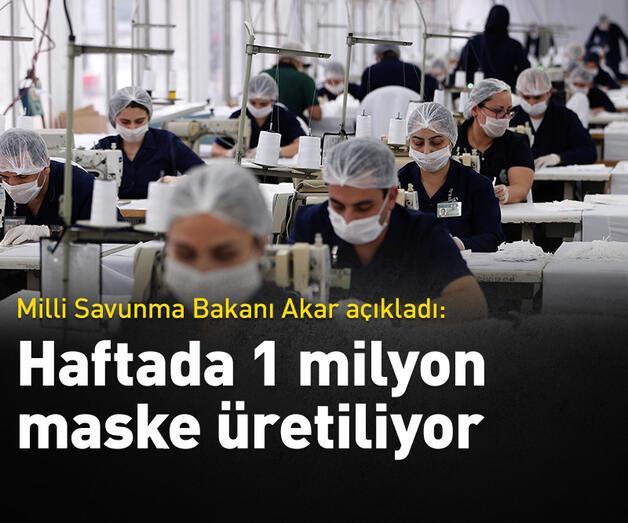 Son dakika: Dikimevlerinde haftada 1 milyon maske üretiliyor