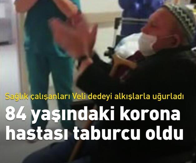 Son dakika: İzmir'de 84 yaşındaki korona hastası taburcu oldu