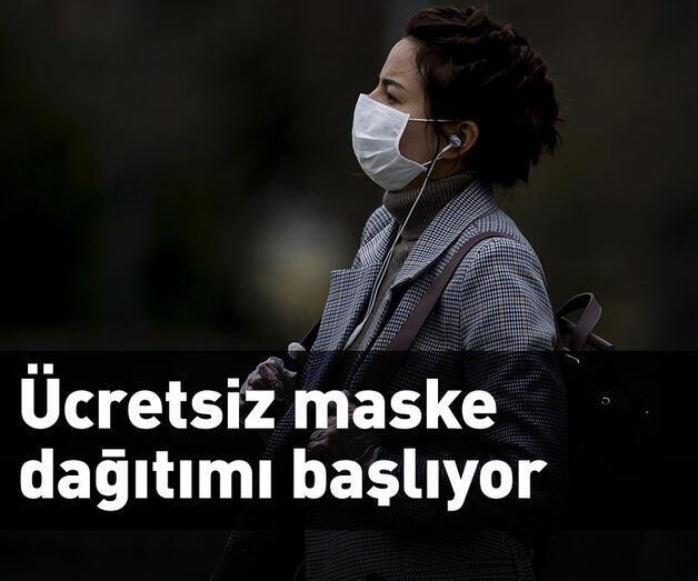 Son dakika: Ücretsiz maske dağıtımı başlıyor