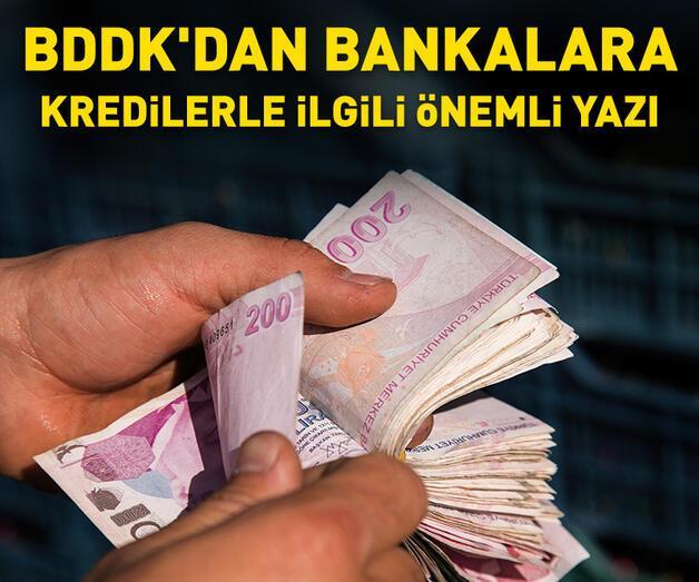 Son dakika: BDDK'dan bankalara kredilerle ilgili önemli yazı