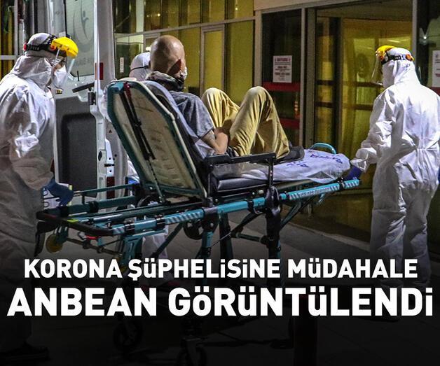 Son dakika: Koronavirüs şüphelisine müdahale anbean görüntülendi