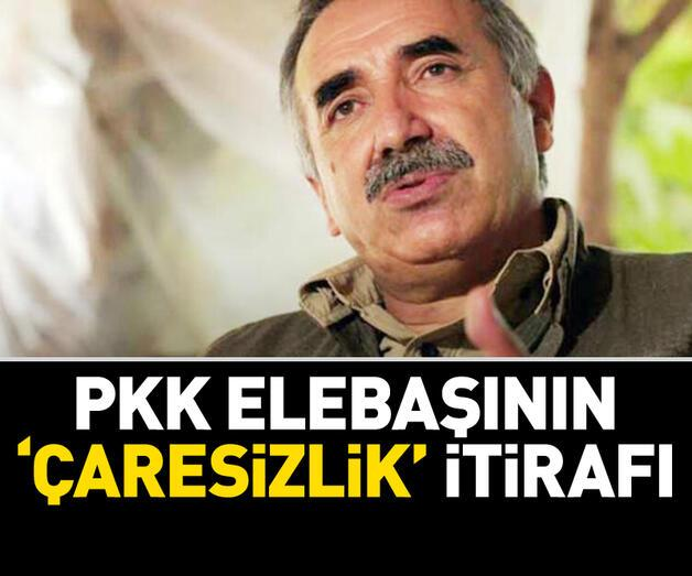 Son dakika: PKK'nın elebaşı Karayılan'dan çaresizlik itirafı