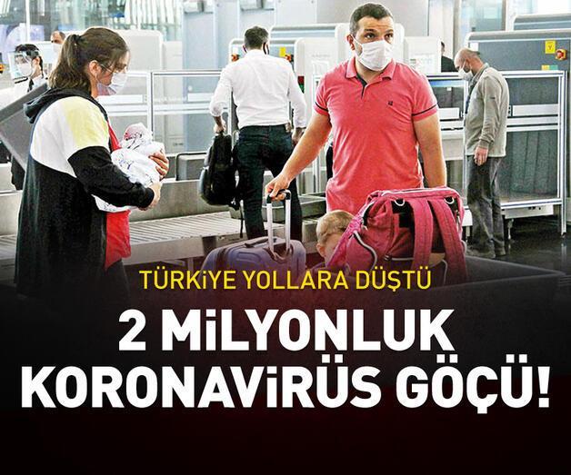 Son dakika: 2 milyonluk koronavirüs göçü
