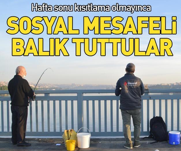 Son dakika: Unkapanı Köprüsünde balık tuttular