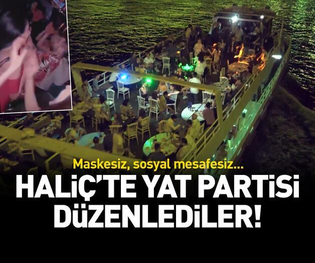 Son dakika: Haliç'te yat partisi düzenlediler