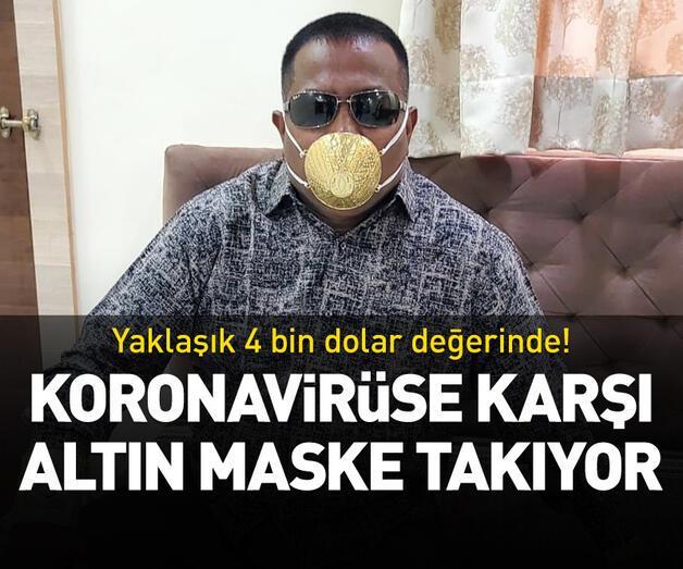 Son dakika: Koronavirüse karşı altın maske takıyor