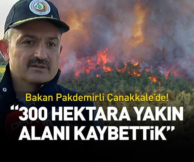 Son dakika: Bakan Pakdemirli'den Gelibolu'daki orman yangınıyla ilgili açıklama