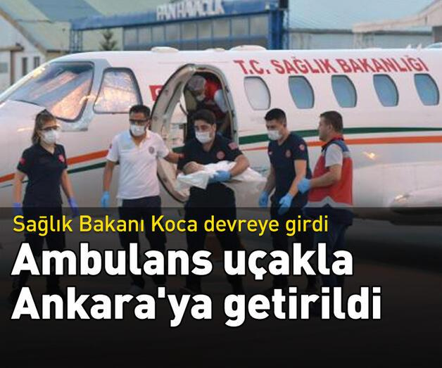 Son dakika: Kalp hastası bebek ambulans uçakla Ankara'ya getirildi