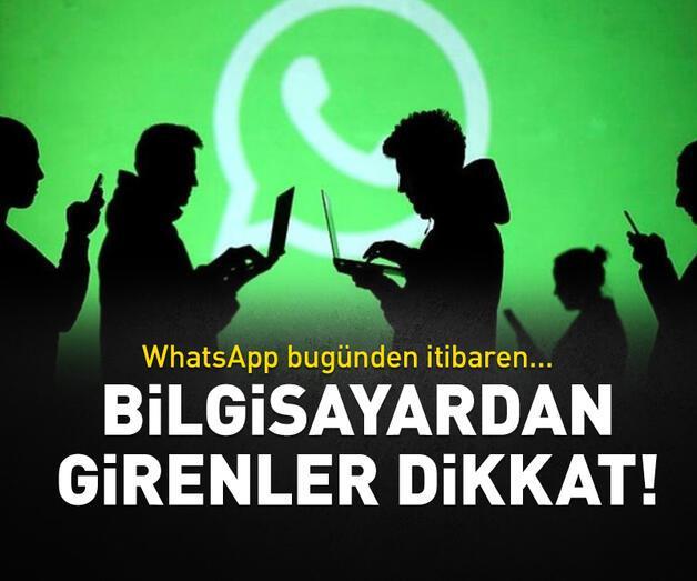 Son dakika: WhatsApp'a bilgisayardan girenler dikkat!