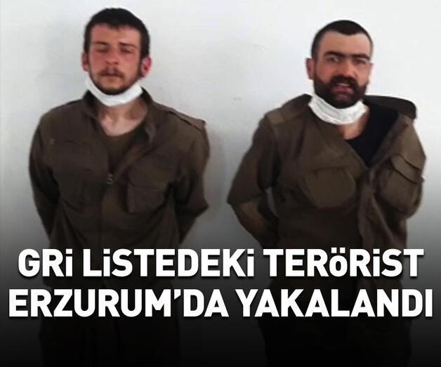 Son dakika: Gri listedeki terörist Erzurum'da sağ olarak yakalandı