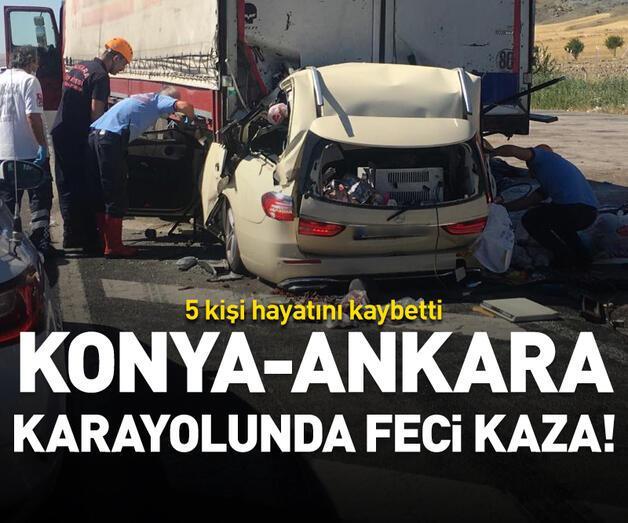 Son dakika: Konya-Ankara karayolunda feci kaza!
