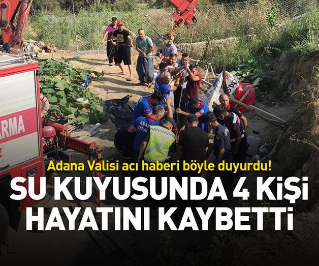 Son dakika: Su kuyusunda 4 kişi hayatını kaybetti