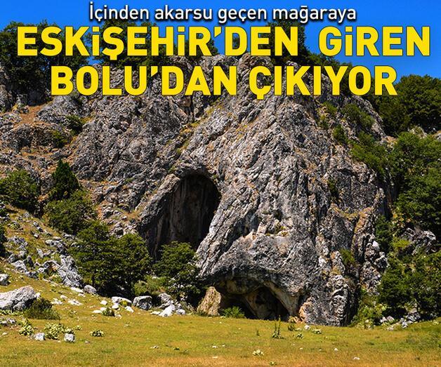 Son dakika: Bu mağaraya Eskişehir'den giren Bolu'dan çıkıyor