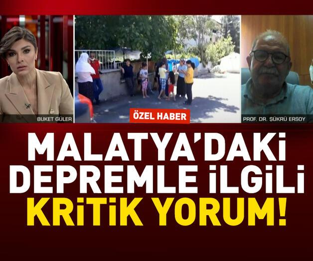 Son dakika: Malatya depremi ile ilgili Ersoy'dan kritik değerlendirme