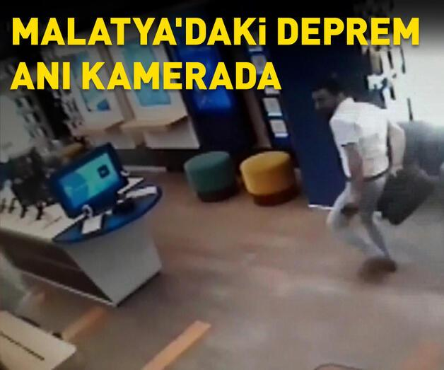 Son dakika: Malatya'daki deprem kamerada