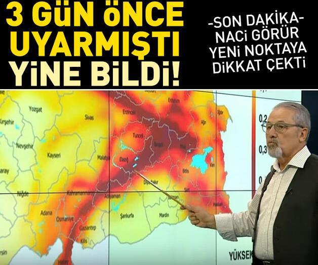 Son dakika:  Prof. Dr. Naci Görür yeni noktaya işaret etti