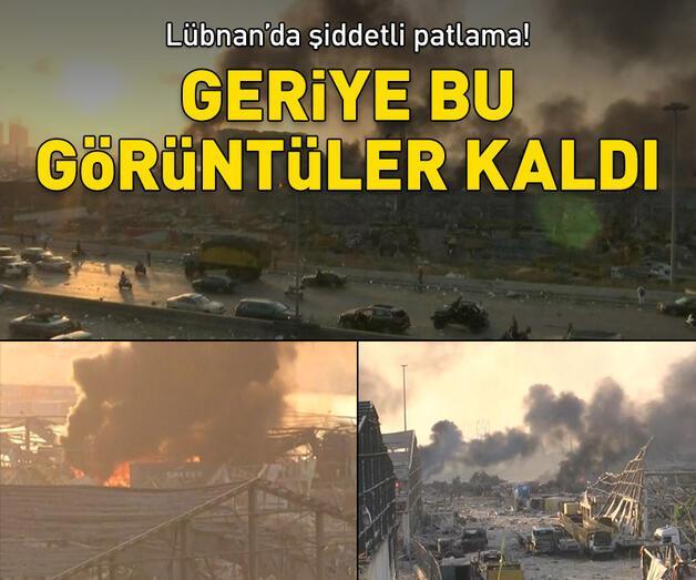 Son dakika: Son dakika! Lübnan'da şiddetli patlama!