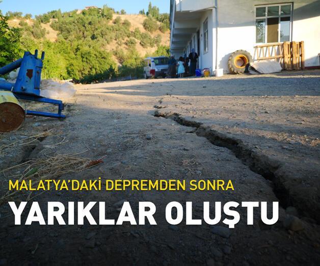Son dakika: 5.2'lik depremden sonra Malatya'da derin yarıklar oluştu