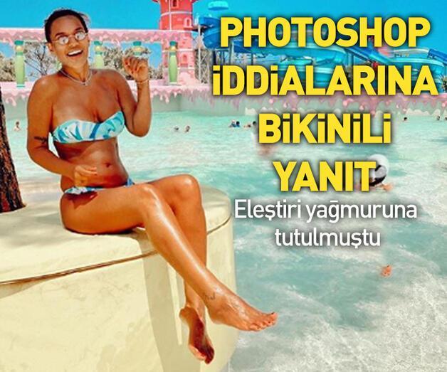 Son dakika: Photoshop iddialarına bikinili yanıt!