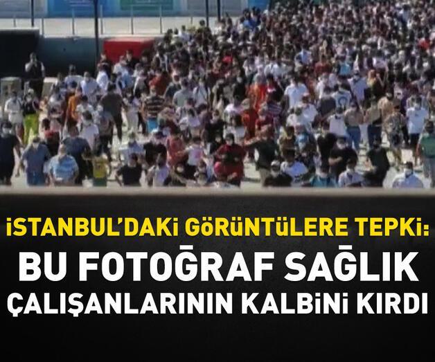 Son dakika: 'Vapura koşuş' fotoğrafı sağlık çalışanlarının kalbini kırdı