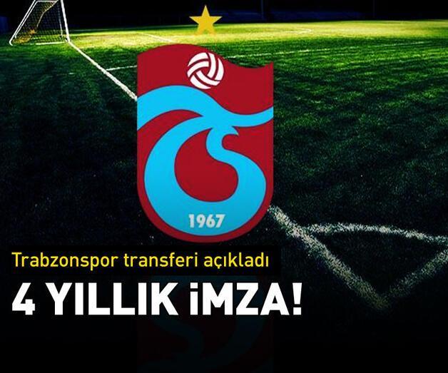 Son dakika: Trabzonspor transferi açıkladı