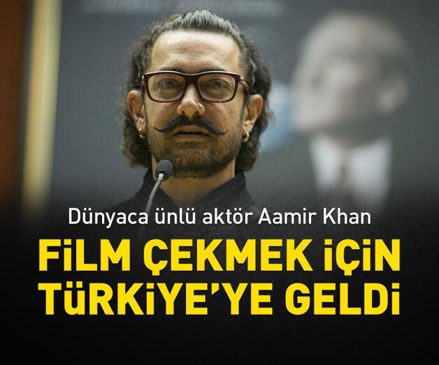 Son dakika: Aamir Khan, film çekmek için Türkiye'ye geldi