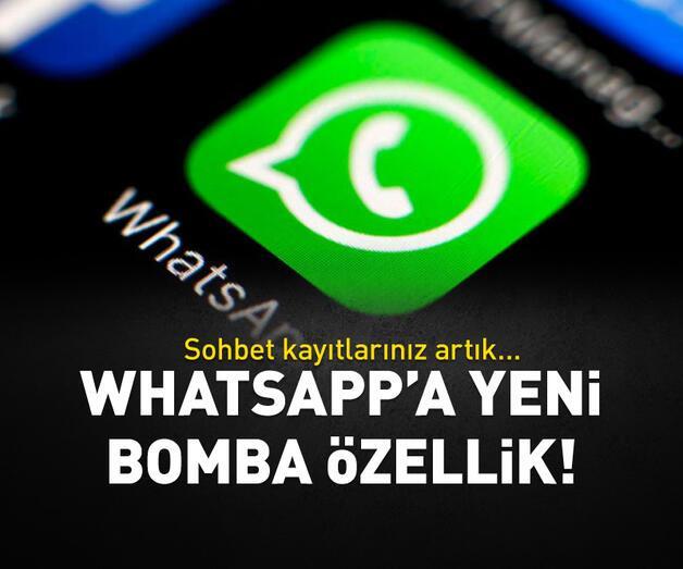 Son dakika: WhatsApp'a bomba özellik!