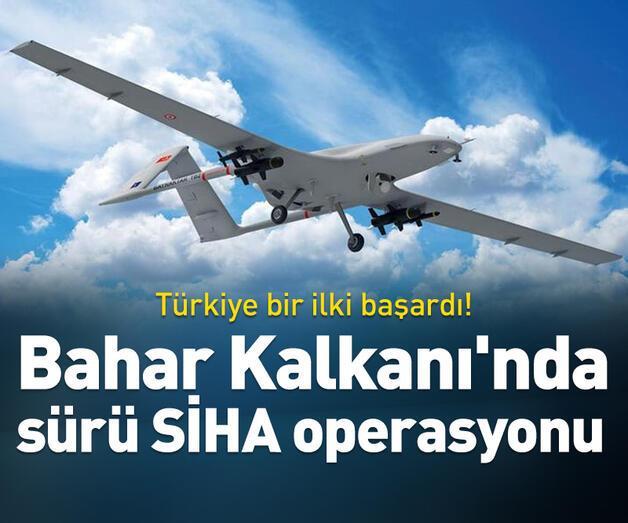 Son dakika: Bahar Kalkanı'nda sürü SİHA operasyonu