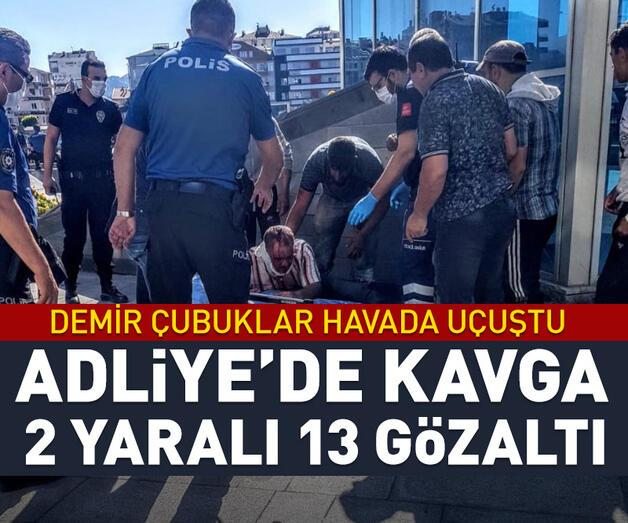 Son dakika: Kayseri Adliyesi'nde demir çubuklu kavga: 2 yaralı, 13 gözaltı