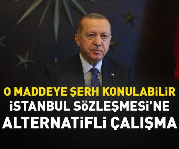 Son dakika: İstanbul Sözleşmesi'ne alternatifli çalışma