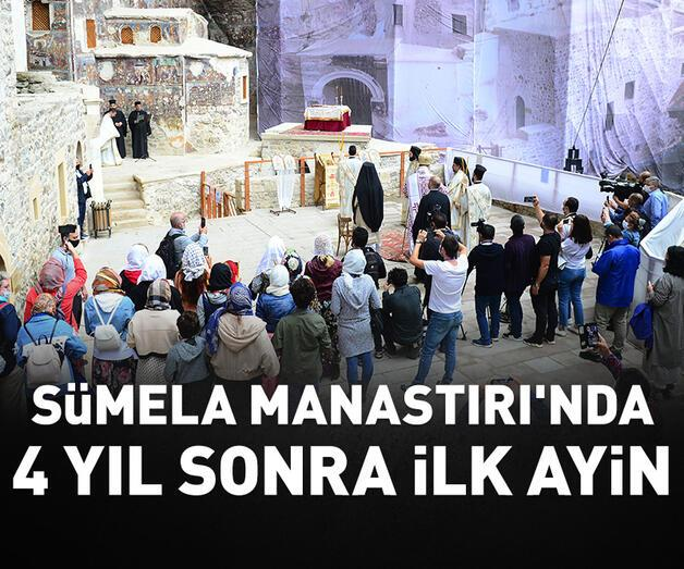 Son dakika: Sümela Manastırı'nda 4 yıl sonra ilk ayin