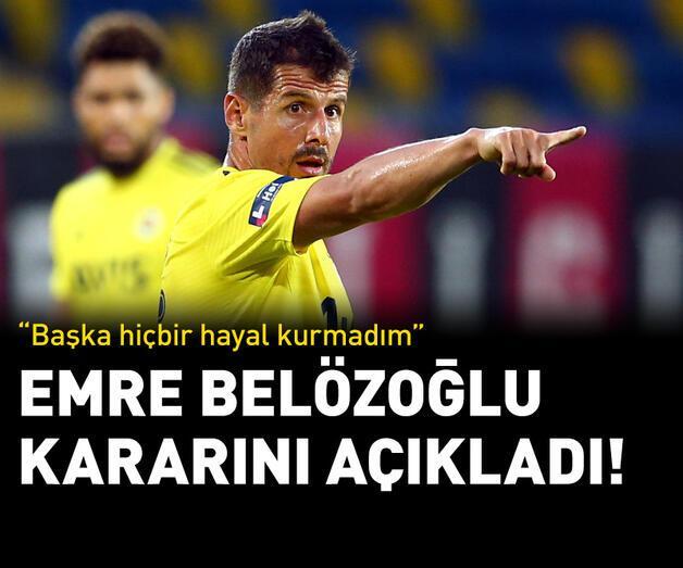 Son dakika: Emre Belözoğlu kararını açıkladı!