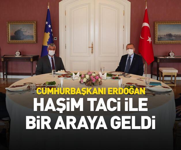 Son dakika: Kosova Cumhurbaşkanı ile bir araya geldi