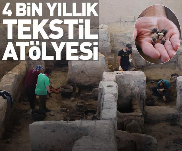 Son dakika: 4 bin yıllık tekstil atölyesi ortaya çıkarıldı