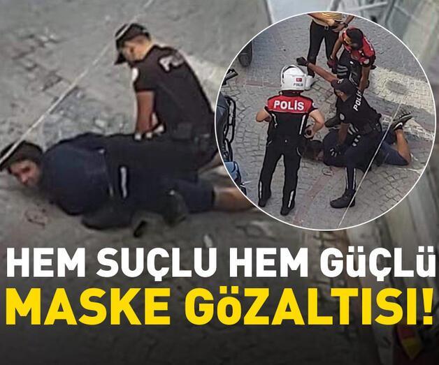 Son dakika: Maske denetimi sırasında polise mukavemet eden iki kişi gözaltına alındı