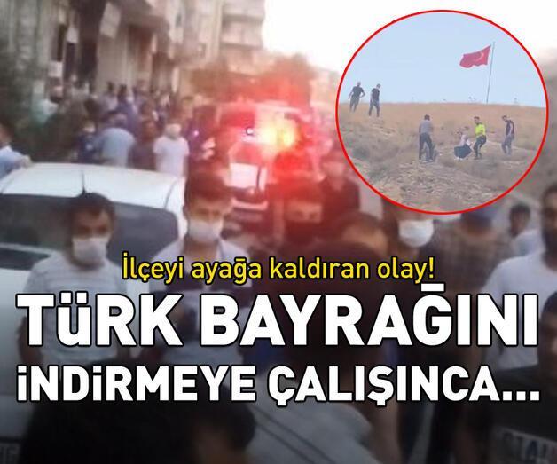 Son dakika: Türk bayrağını indirmeye çalışınca...