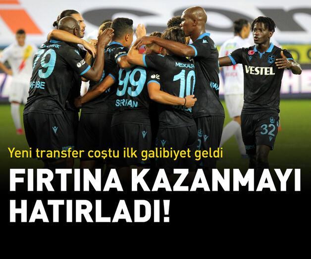 Son dakika: Trabzonspor ilk galibiyetini aldı