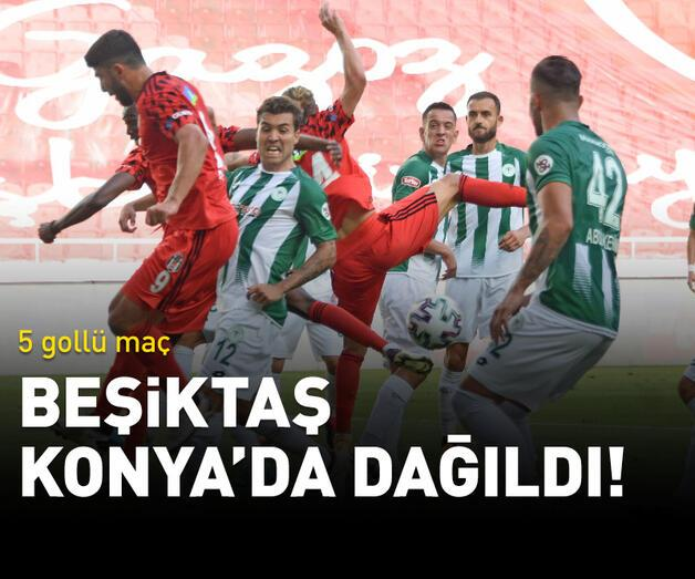 Son dakika: Beşiktaş Konya'da dağıldı!