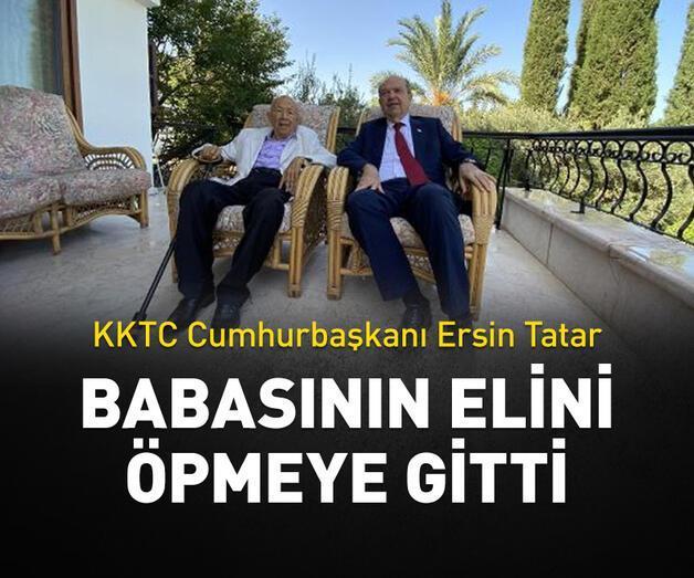 Son dakika: Ersin Tatar, babasının elini öpmeye gitti