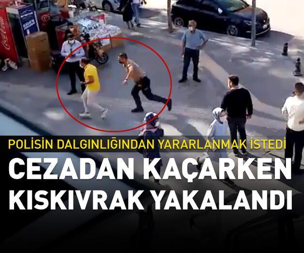 Son dakika: Maske cezasından kaçarken polis yakaladı