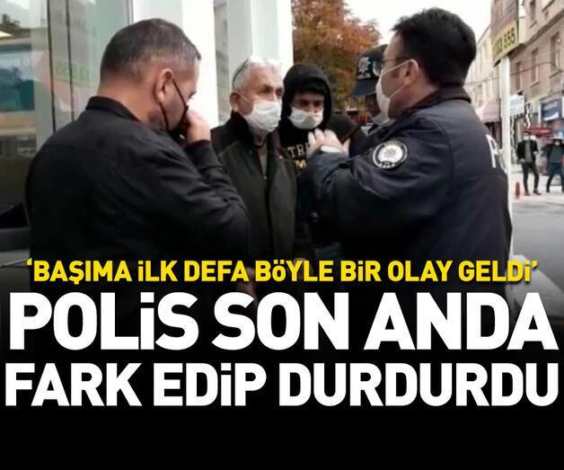 Son dakika: Polisler fark edip son anda durdurdu!