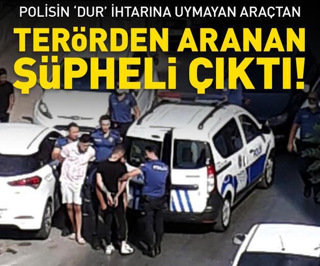 Son dakika: Polisin ihtarına uymayan araçtan terör şüphelisi çıktı