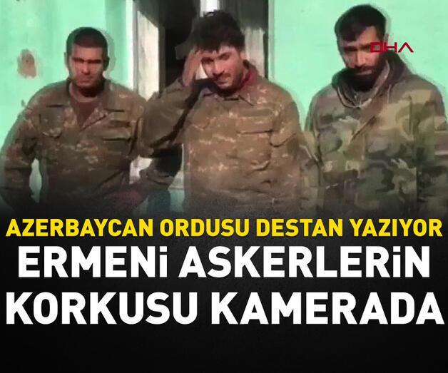 Son dakika: Azerbaycan ordusunun esir aldığı Ermeni askerlerin korkusu kamerada