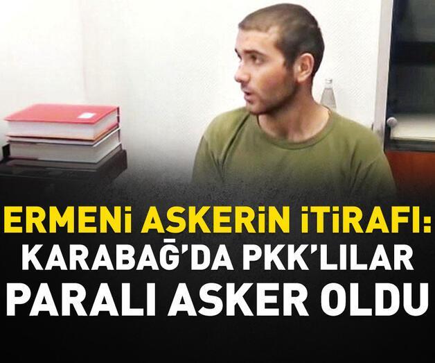 Son dakika: 'Karabağ'da PKK'lılar paralı asker oldu'