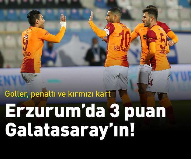 Son dakika: Erzurum'da 3 puan Galatasaray'ın!